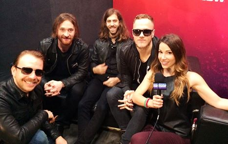 Stuart Brazell Sits Down With Imagine Dragons at the iTunes Festival at SXSW for The Insider!