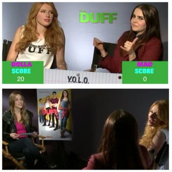 The Duff Stars Bella Thorne and Mae Whitman Play the Slang Game With Stuart Brazell
