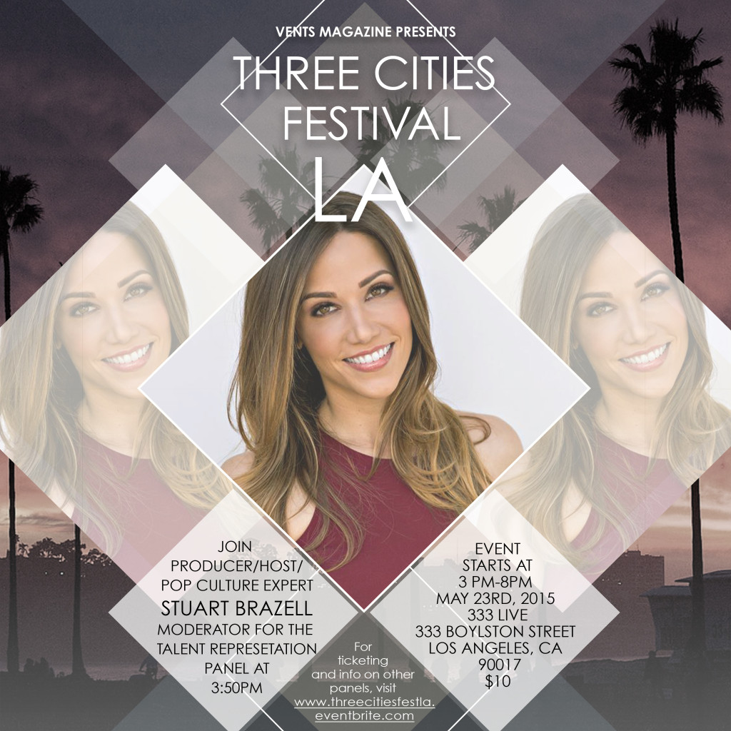 Stuart Brazell To Host and Moderate Talent Representation Panel on May 23rd at Three Cities Festival LA