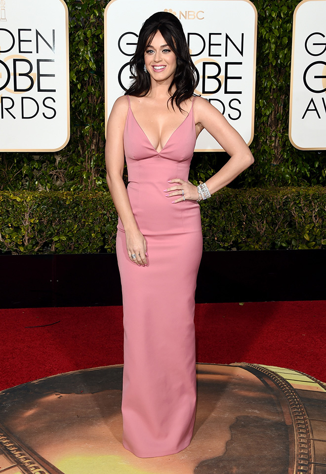 Katy Perry at the 2016 Golden Globes