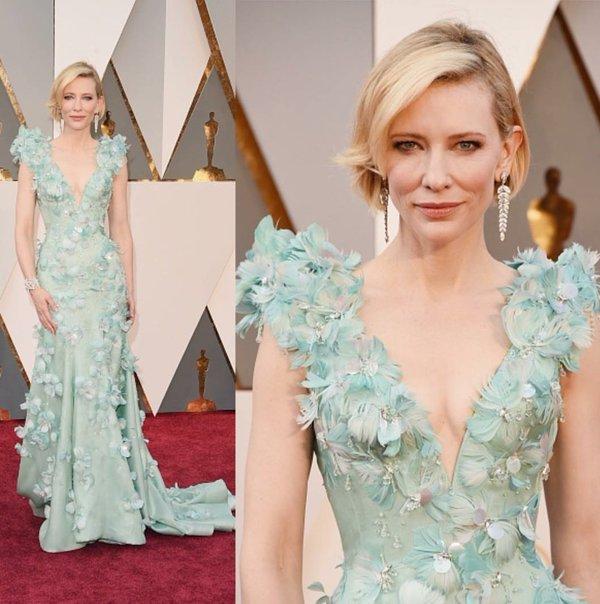 Cate Blanchett Seafoam oscar gown