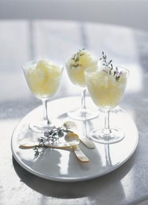 Lemon Honey Granita Slushie