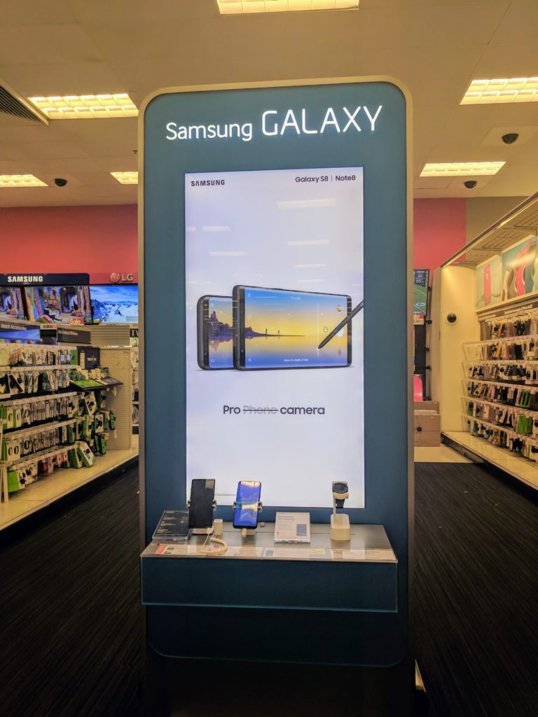 I hope my article and review has encouraged you to also boost your productivity using the Samsung Galaxy Note8! I easily found and purchased the the Samsung Galaxy Note8 at my local Target. I entered the store, headed for the electronics area and immediately saw the Samsung display.