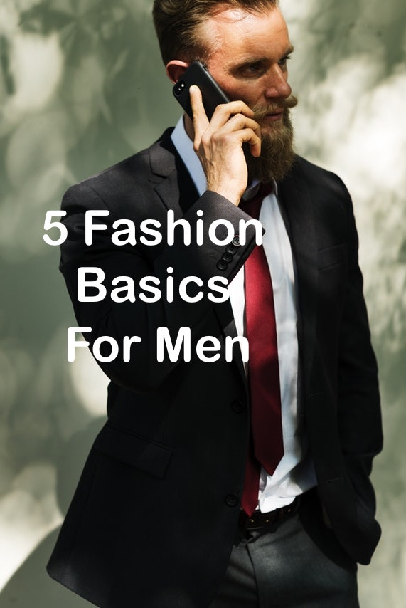 "Many men find it difficult to find the right type of fashion pieces to combine. Therefore, they often hang in the same outfit. The basics for a good wardrobe begin with a few things that you must have in your wardrobe. They form the foundation of the outfits that you can wear all day. They are easy to combine with your other more seasonal clothing. Every wardrobe has some ""evergreens"" tops or jeans that never go out of fashion, so it can't hurt to have some extra staples in the closet.  Here are 5 Fashion Basics For Men!"