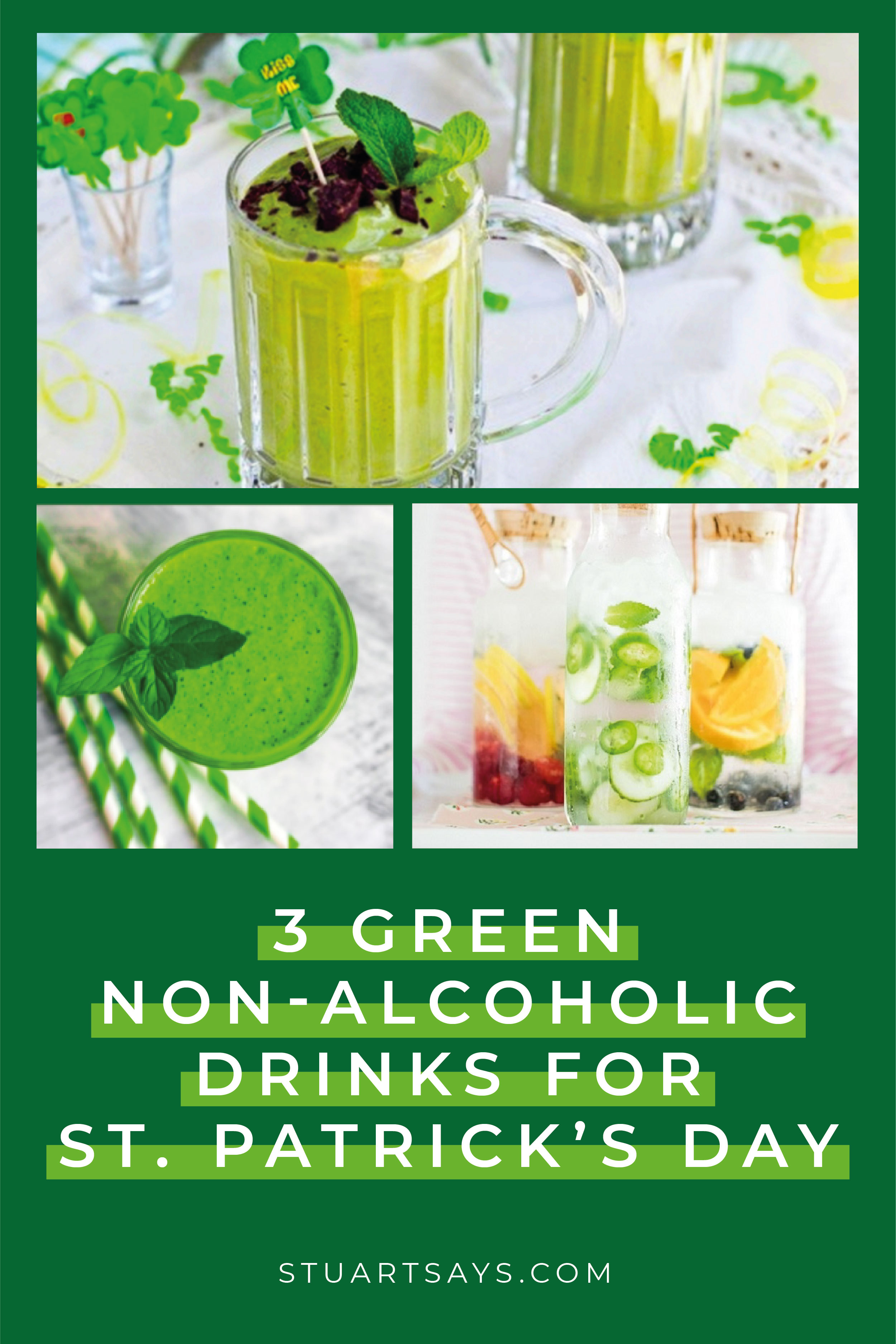 3 Green Non-Alcoholic Drinks for St. Patrick's Day