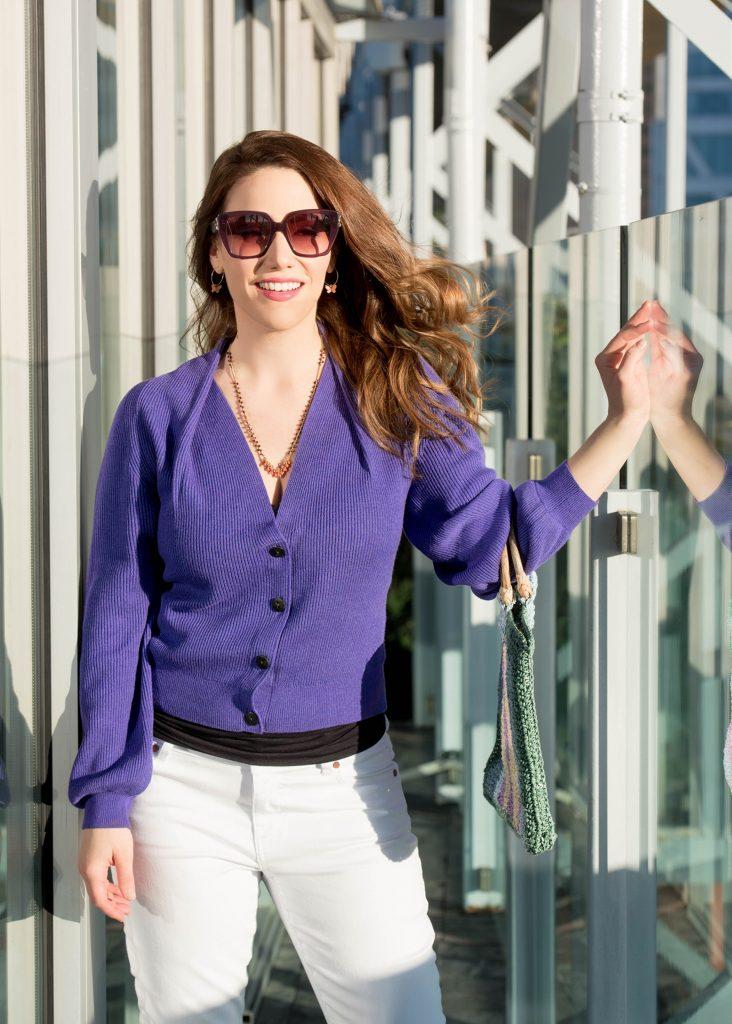 purple-sweater-white-jeans