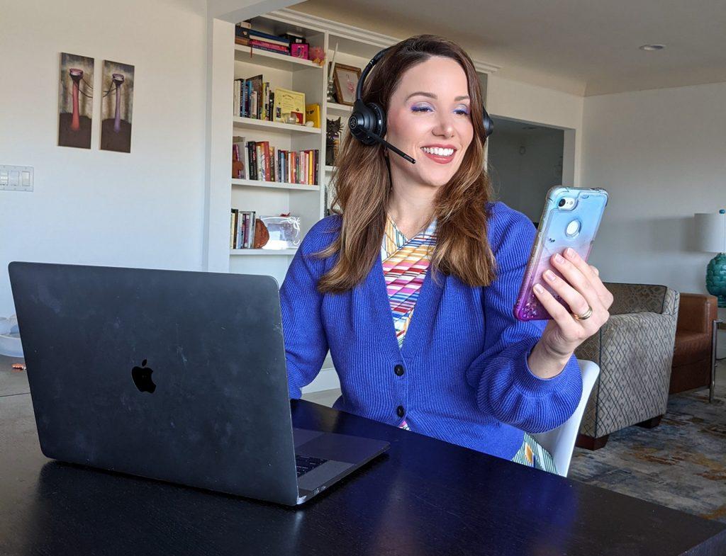 woman-wearing-bluetooth-headset